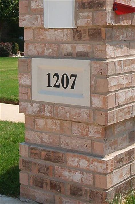 brick mailbox design options information pictures