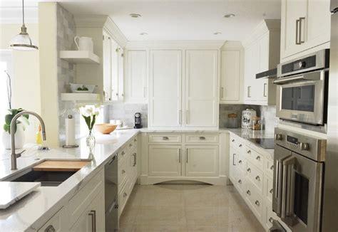 white kitchen  driftwood peninsula home bunch