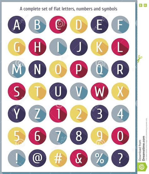 number of letters in alphabet alphabet and number flat icons set vector illustration 50175