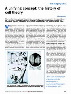 Pdf  A Unifying Concept  The History Of Cell Theory