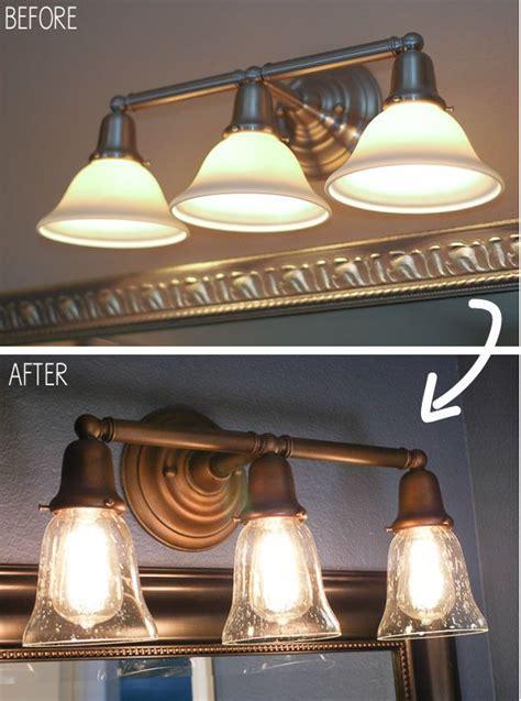 Refinishing Brass Bathroom Fixtures by Best 25 Light Fixture Makeover Ideas On Rust