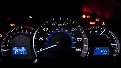 toyota lights dashboard camry autoevolution