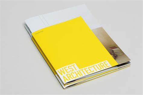west architecture brochure design  morse studio