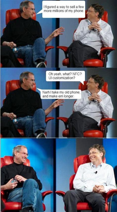 Bill Gates Steve Jobs Meme - image 398909 steve jobs vs bill gates know your meme