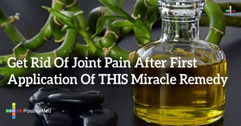 Get Rid Of Joint Pain After First Application Of This