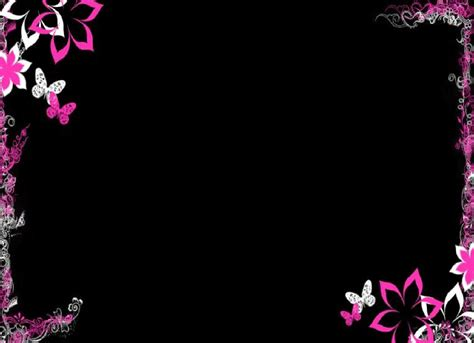 Cool Border Wallpapers by Cool Purple Flower Border Backgrounds For Powerpoint