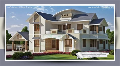 bungalow design two storey kerala house designs 2 18 keralahouseplanner