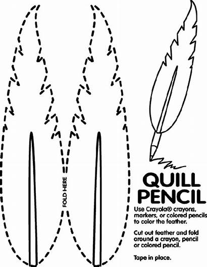 Quill Coloring Presidents Crayola Pencil Pages Template