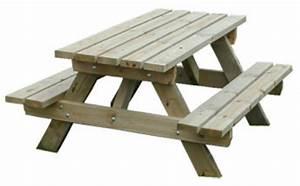 Table Et Banc En Bois : code fiche produit 12664435 ~ Melissatoandfro.com Idées de Décoration