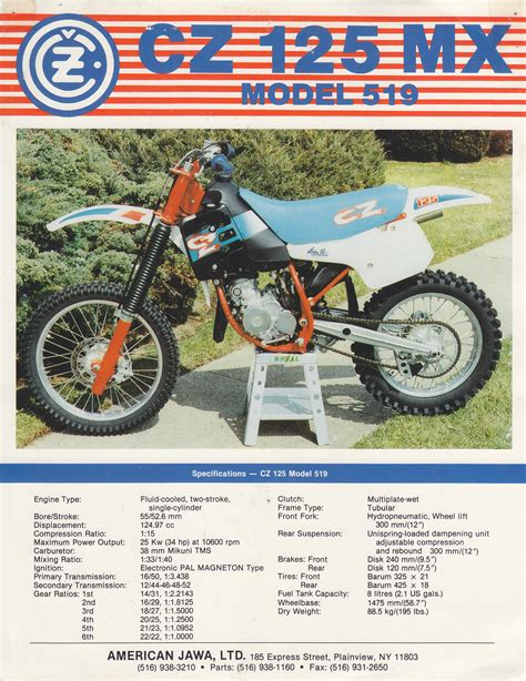 cz motocross bikes found some old brochures here 39 s a cz model 519 old