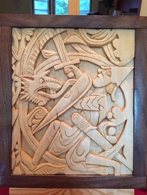 home viking wood carving
