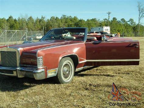 1977 Lincoln Continental Convertible Estate Sale Very Rare