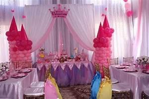 decoraciones de princesas para fiestas infantiles