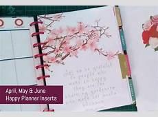 Free Download April, May, June Happy Planner Dividers
