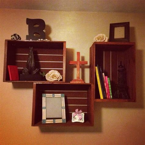 turn  wooden crates  charming wall decor wood