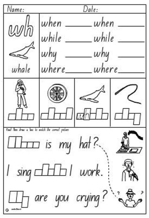 activity sheet digraph wh skills