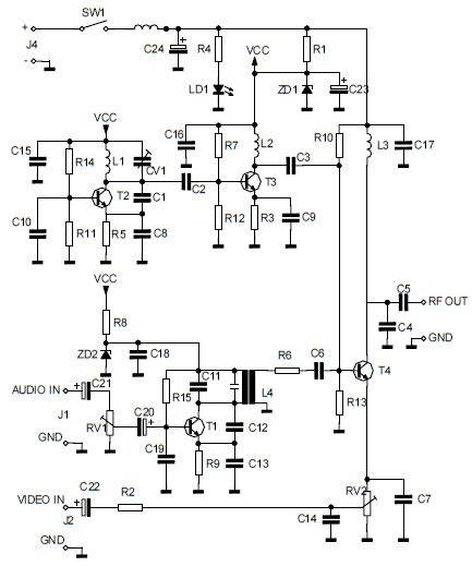 Audio Video Uhf Signal Converter Modulator