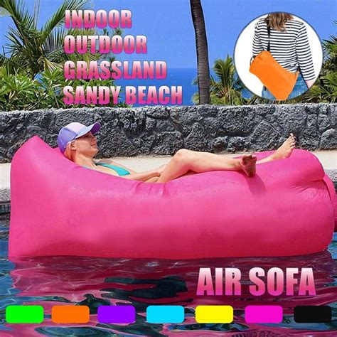 Sold and shipped by spreetail. Modern outdoor garden furniture inflatable sofa fast inflatable recliner 75 * 21in78*25 portable ...