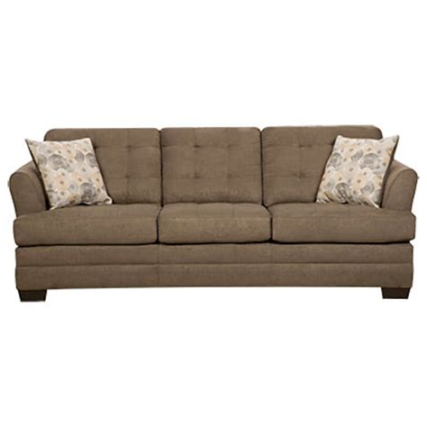 simmons velocity shitake sofa with gigi pillows
