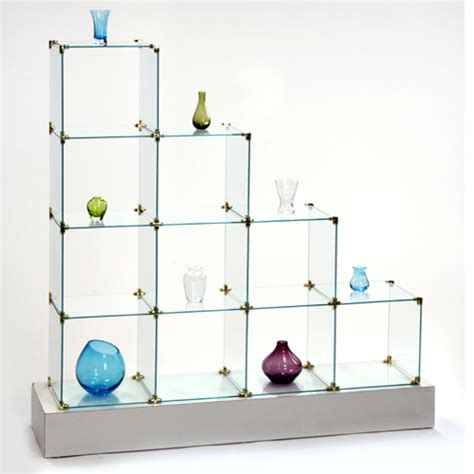 glass cube display glass cube 4 step display shelving 1226