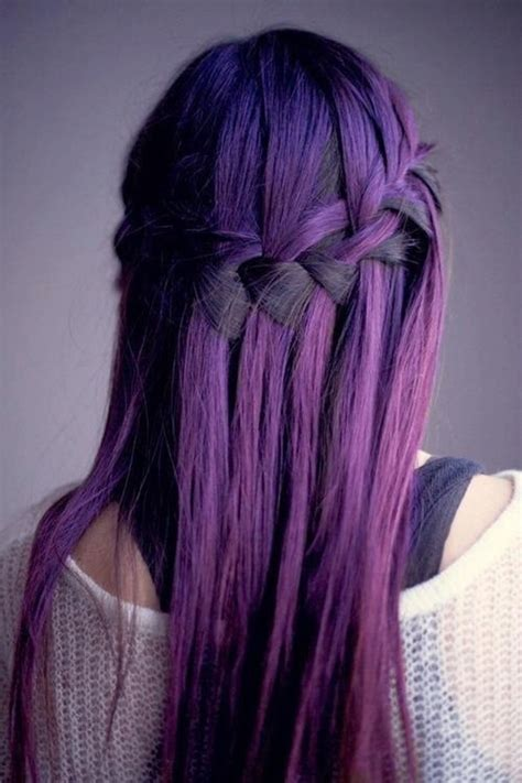 Stylish Purple Hair Color Idea 2019