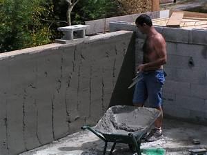 l39enduit des murs de la piscine a debordement With comment construire sa piscine