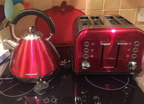 Morphy Richards Kettle Toaster Red