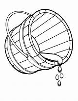 Bucket Coloring Water Pages Spilling Drawing Fountain Drop Colouring Print Outline Printable Sheet Getdrawings Getcolorings Place Sketch Utilising Button Tocolor sketch template