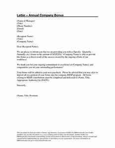 bonus letter template portablegasgrillwebercom With performance bonus template