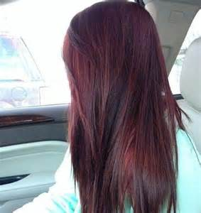Burgundy Red Hair Color with Highlights