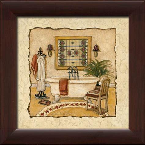 deco bath i framed canvas