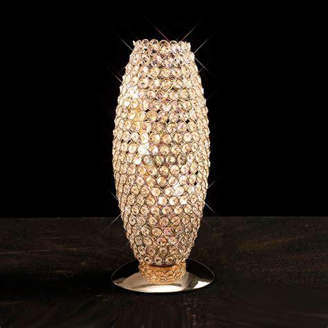Reflector Christmas Lights by Diyas Il30766 Kos 3 Light French Gold Crystal Table Lamp