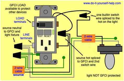 Gfci Switch Outlet Wiring Diagrams Yourself Help