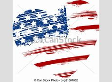 Grunge usa flag in heart shape Grunge usa flag