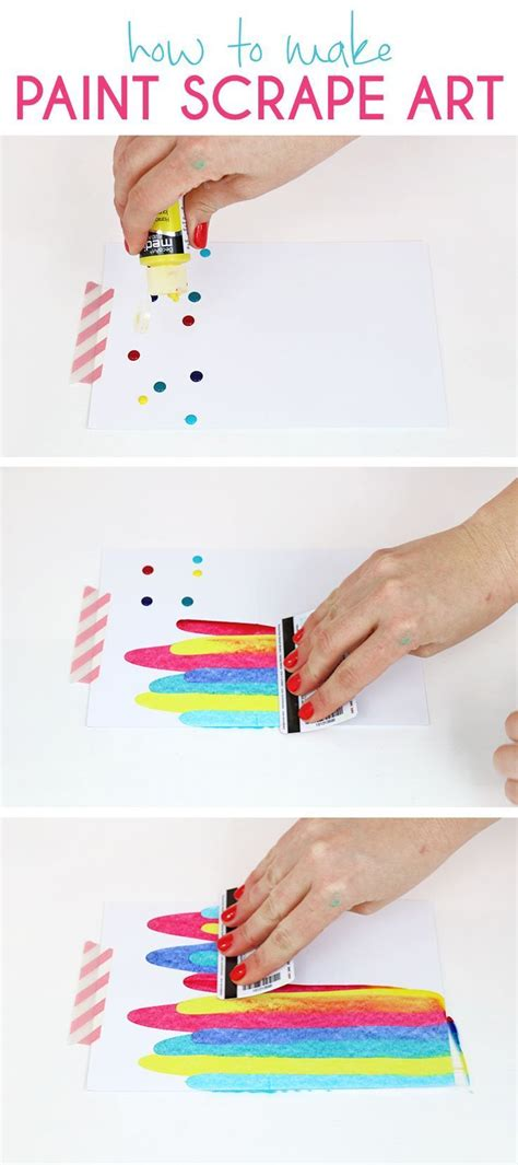 projects to make paint scrape notecards diy project idea diy