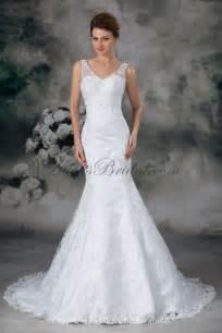 v neck wedding dresses allens bridal lace v neck sweep mermaid wedding dress