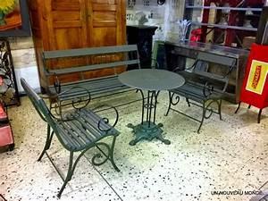 Salon De Jardin En Fer : l 39 atelier de philippe salon de jardin charles x fer forg et bois ~ Teatrodelosmanantiales.com Idées de Décoration