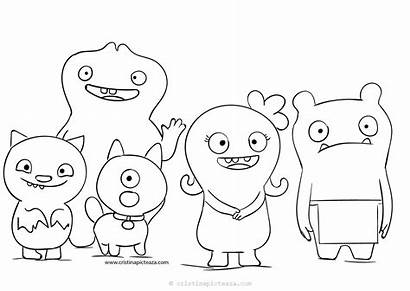 Ugly Dolls Coloring Pages Uglydolls Colouring Dog