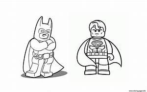Batman Vs Superman Lego 2016 Coloring Pages Printable