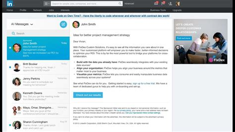 linkedin inmail templates send personalized messages with linkedin sponsored inmail