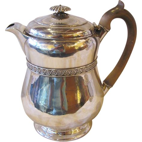 antique english sterling silver teapot london 1815