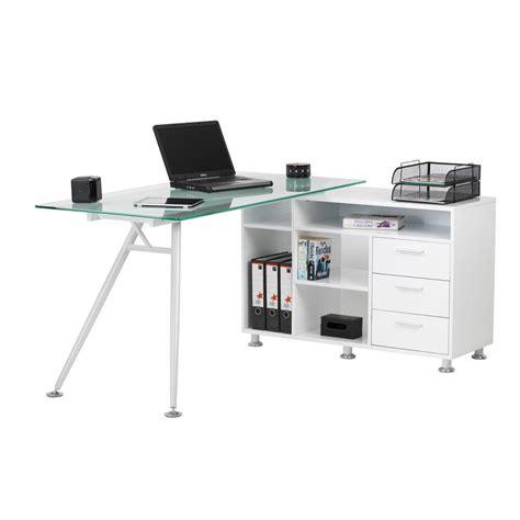 staples corner desk white desk white glass staples 174