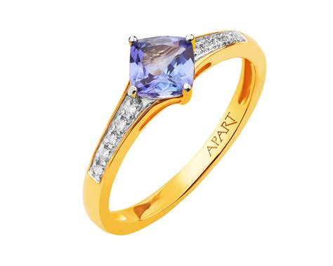 Yellow Gold Diamond And Tanzanite Ring / Artelioni Jewelry Holder For Earrings Making Supplies Minneapolis Wall Mount Online India In Candles Consultant Review Nashville Oahu Rose Gold