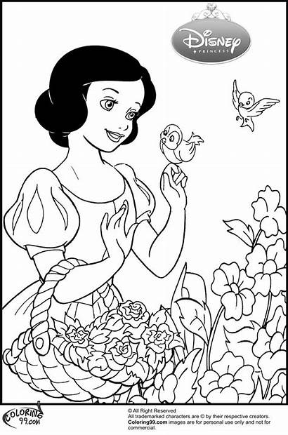 Snow Coloring Princess Disney Coloriage Witch Blanche