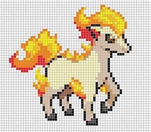 Ponyta Pixel Art Grid by Hama-Girl.deviantart.com on ...