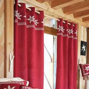 Rideau Voilage Rouge : rideau 135 x h260 cm vallorcine rouge rideau voilage store eminza ~ Teatrodelosmanantiales.com Idées de Décoration
