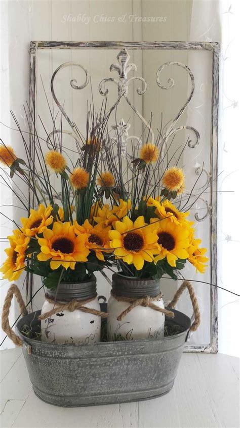 shabby chic sunflower mason jar diy ideas pinteresting finds