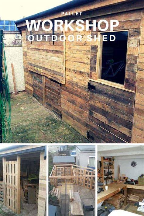 pallet workshop backyard shed  pallets