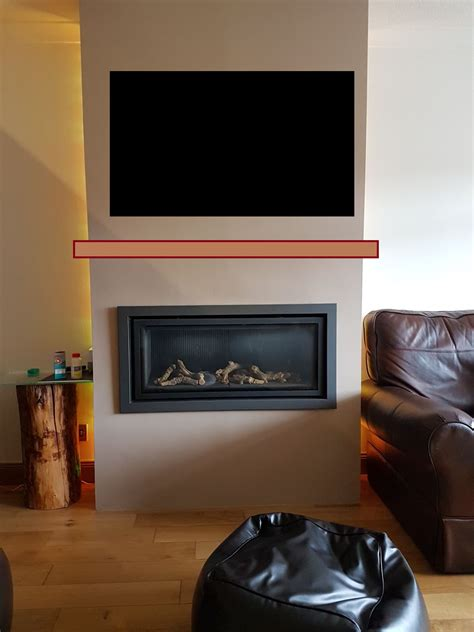 problem mounting  tv   gas fire