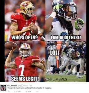 San Francisco 49ers Seattle Seahawks Memes